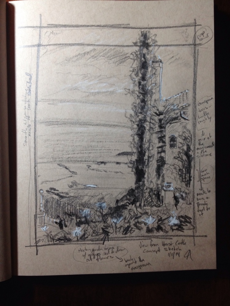 View from Hearst Castle #1: Concept Sketch